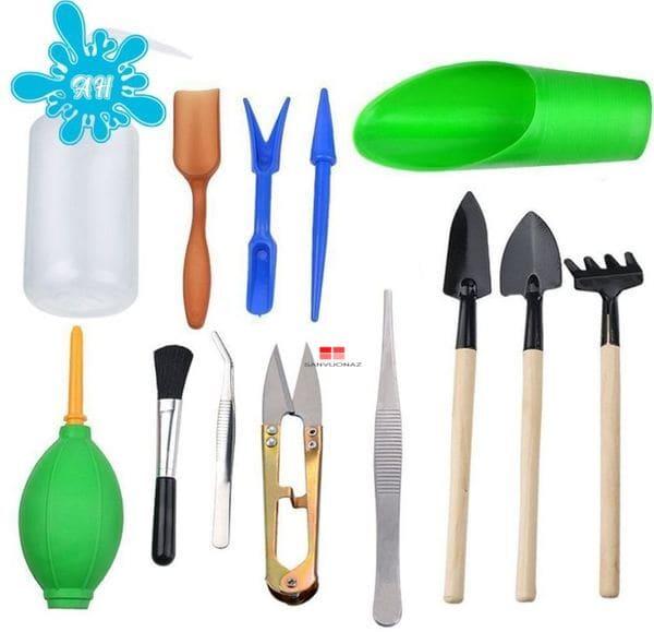 Bộ dụng cụ làm vườn mini 13 món phục vụ cả việc gây giống cây trồng