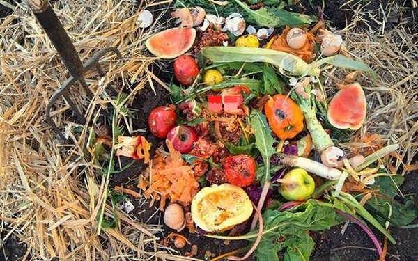 Trộn rác hữu cơ